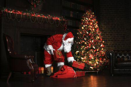 Christmas night, Santa Claus Foto de archivo