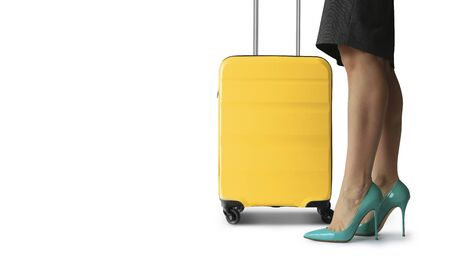 Tourist, a passenger with Luggage, the concept on the topic of tourism