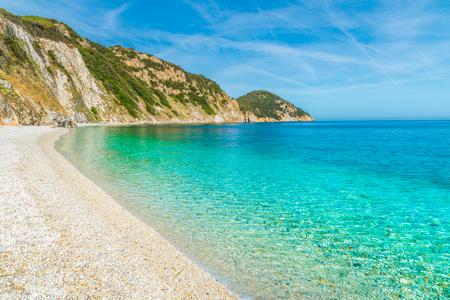 livorno: Sansone beach with amazing turquoise water, Elba Island, Tuscany,Italy.