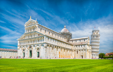 Cathedral and the Leaning Tower of Pisa, Tuscany, Italy