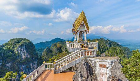 The top of Tiger Cave temple, (Wat Tham Suea), Krabi region, Thailand