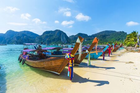 Harbor on Ton Sai Bay,  Phi Phi Islands,  Andaman Sea, Thailand