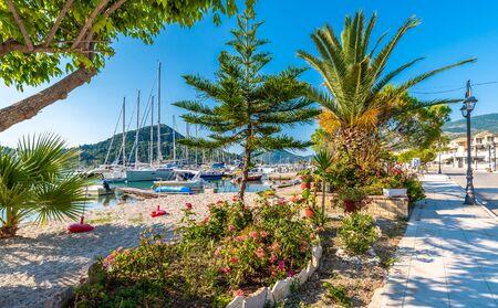 Landscape with Nidri harbour and village, Lefkada, Greece