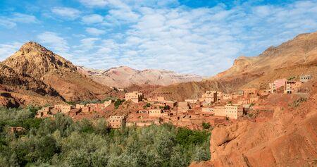 Berber village on Dades Valley, Tinghir region, Morocco, North Africa