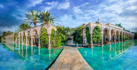Namaskar palace, Marrakech, Morocco - November  15, 2017:  Namaskar palace, luxury hotel and spa of Marrakech, Morocco