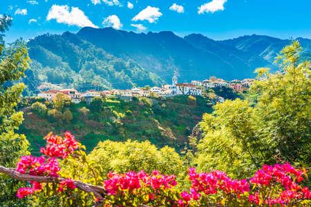 Mountain village in Madeira island, Portugal 免版税图像