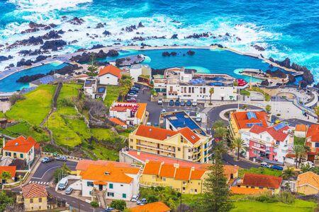 Porto Moniz, little village at Madeira island, Portugal Stockfoto - 150296357