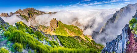 View of the mountains near Pico de Arieiro, Madeira Island, Portugal. Stockfoto - 150296141