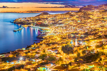 Panoramic view over Funchal – Madeira island, Portugal