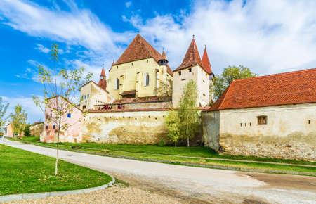 Biertan fortified church in Sibiu,  Transylvania, Romania. Zdjęcie Seryjne