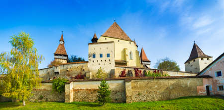 Beautiful medieval architecture of Biertan fortified church in Sibiu, Romania Zdjęcie Seryjne - 150592595