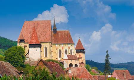 Beautiful medieval architecture of Biertan church in Sibiu, Romania