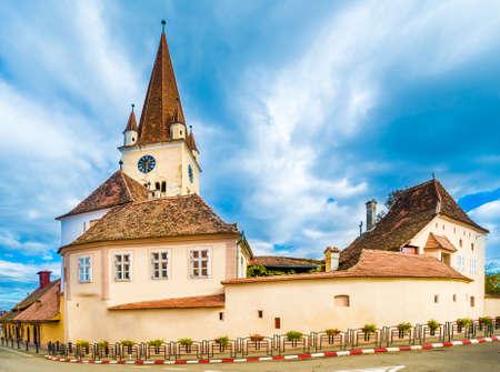 Fortified evangelical church in Cisnadie, Sibiu, Romania Zdjęcie Seryjne - 150592646