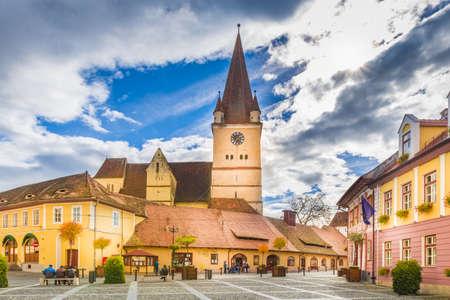 Fortified evangelical church in Cisnadie, Sibiu, Romania