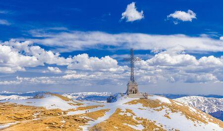 Heroes' Cross on Caraiman Peak, Bucegi mountains, Romania