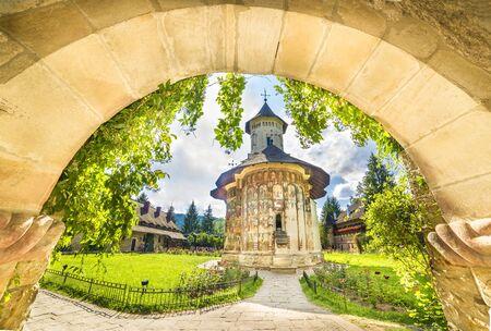Moldovita orthodox church monastery, Moldavia, Bucovina, Romania