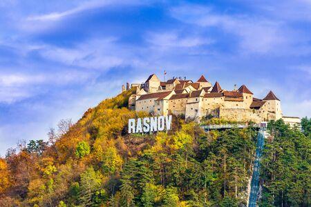 Medieval fortress (citadel) in Rasnov city, Brasov, Transylvania, Romania