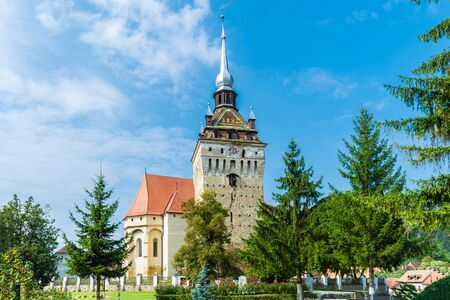 Fortified church on Saschiz, Transylvania, Romania
