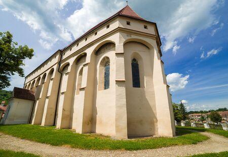 Saschiz fortified church in Saschiz Keisd villages, Sibiu, Transylvania, Romania