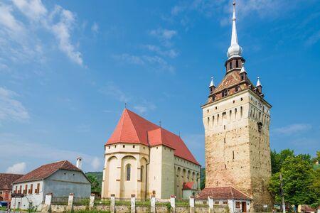 Saschiz fortified church in Saschiz villages, Sibiu, Transylvania, Romania