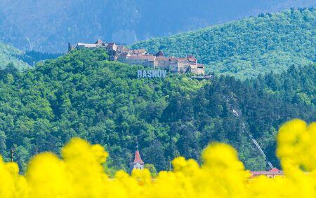 Medieval fortress of Rasnov, Brasov landmark, Transylvania, Romania 版權商用圖片 - 150508175