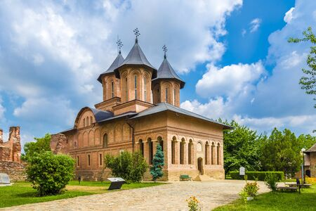 Metropolitan Church and royal court in Targoviste landmark, Romania