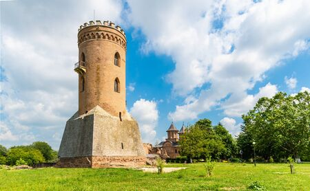 The Chindia Tower (Turnul Chindiei) and ruins of medieval old fortress Targoviste, Romania