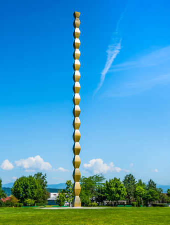 The Column of  Infinity  in Targu Jiu, Romania Stockfoto