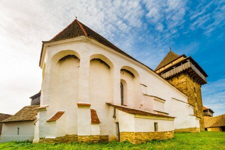 Fortified church in Viscri village, Transylvania, Romania Фото со стока