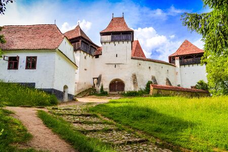 Fortified church in Viscri, Transylvania, Romania Фото со стока