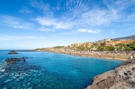 Landscape with El Duque beach at Costa Adeje. Tenerife, Canary Islands, Spain Archivio Fotografico