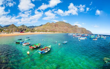 Lanscape with Las teresitas beach on Tenerife, Canary Islands, Spain