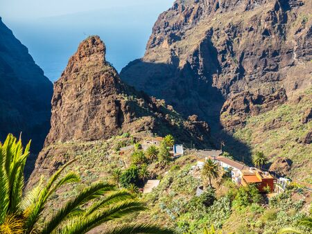 Masca village, the most visited tourist attraction of Tenerife, Spain 版權商用圖片
