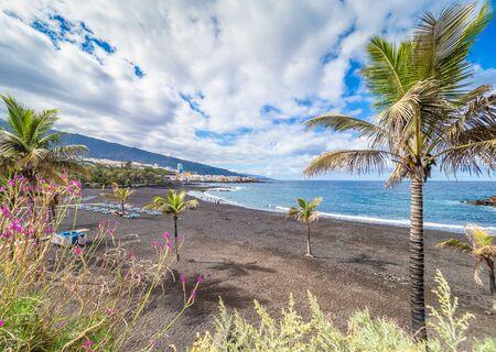 Landscape with Playa Jardin on Puerto de la Cruz, Tenerife island, Spain