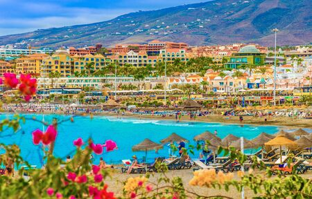 Amazing Fanabe beach in Tenerife, Canary Islands, Spain
