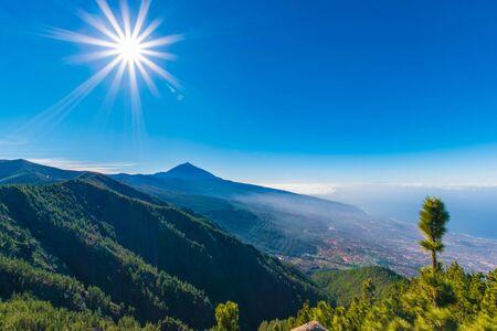 Volcanic mountain Teide in the Teide National Park, Canary islands, Spain.
