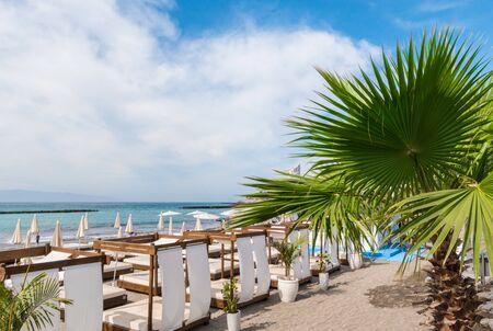 Fanabe beach at Adeje Coast, Tenerife, Canary Islands, Spain Archivio Fotografico