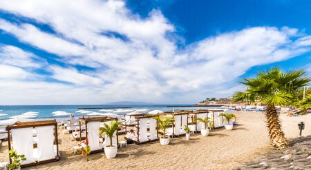 Beach in Costa Adeje, Tenerife, Canary Islands, Spain Archivio Fotografico