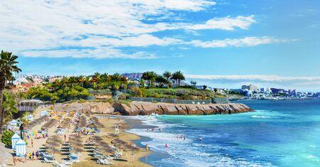 El Duque beach at Costa Adeje. Tenerife, Canary Islands, Spain