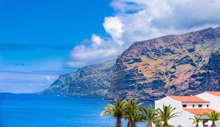 Los Gigantes mountain in Puerto de Santiago city,  Atlantic Ocean coast, Tenerife, Canary island, Spain Archivio Fotografico