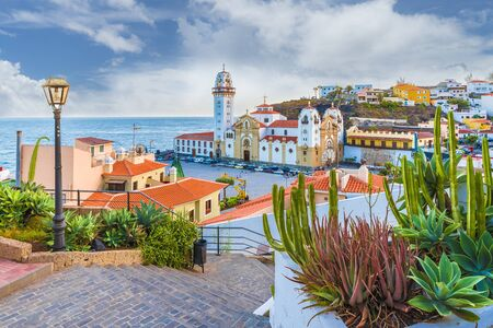 View of Candelaria town of  Tenerife, Canary Islands, Spain