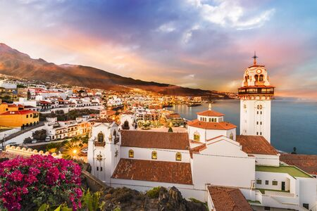 View of Candelaria town in Tenerife, Canary Islands, Spain