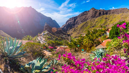 Masca village, the most visited tourist attraction of Tenerife, Spain.