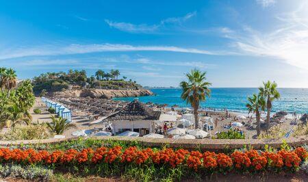 Amazing landscape with El Duque beach at Costa Adeje. Tenerife, Canary Islands, Spain