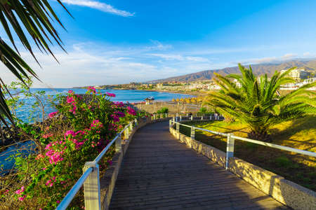 Fanabe beach at Adeje Coast, Tenerife, Canary Islands, Spain Stockfoto
