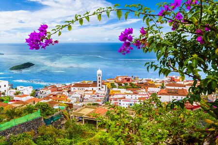 View of Garachico town of Tenerife, Canary Islands, Spain Archivio Fotografico