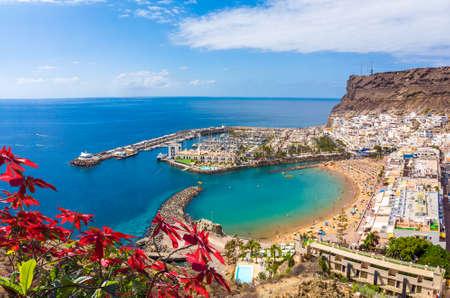 Landscape with Puerto de Mogan, Gran Canaria island, Spain