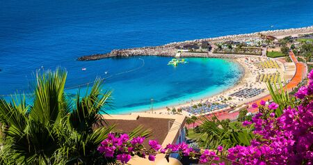 Amazing landscape with Amadores beach on Gran Canaria, Spain