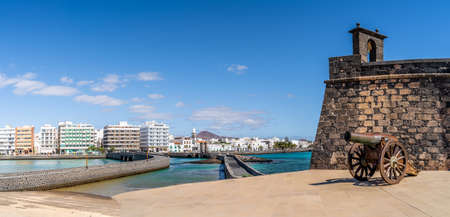 Landscape with Arrecife, capital of Lanzarote, Canary Islands, Spain Stockfoto