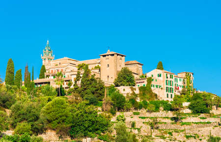 Charterhouse or Royal Carthusian Monastery of Valldemossa village, Palma Mallorca, Spain Stockfoto